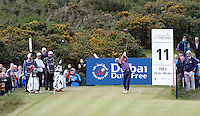Saturday 30th May 2015; Graeme McDowell, Northern Ireland, tees off at the 11th<br /> <br /> <br /> Dubai Duty Free Irish Open Golf Championship 2015, Round 3 County Down Golf Club, Co. Down. Picture credit: John Dickson / SPORTSFILE