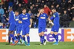 GETAFE, SPAIN - DECEMBER 12: Leandro Cabrera and Jorge Molina celebrates goal during the UEFA Europa League group C match between Getafe CF and FK Krasnodar at Coliseum Alfonso Perez on December 12, 2019 in Getafe, Spain. <br /> (ALTERPHOTOS/David Jar)
