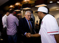 Spike Lee, Henry Kissinger. The group watched Brazil defeat the United States, 2-0, in an international friendly at the New Meadowlands Stadium in East Rutherford, NJ.