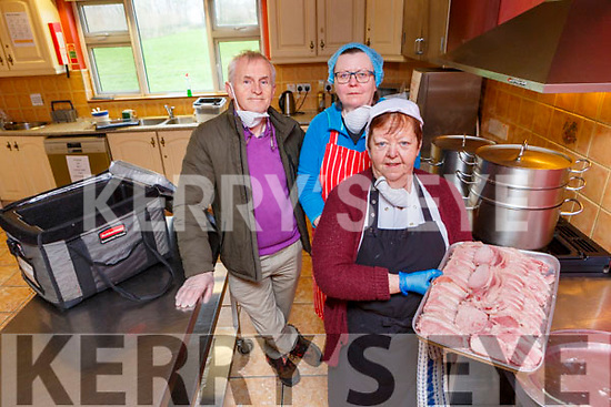 Brian O'Connor, Karen O'Sullivan and Sheila O'Connor who are providing meals on wheels in Beaufort throught the crisis