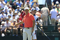 Paul Casey (ENG) sinks his putt on the 7th green during Saturday's Round 3 of the 118th U.S. Open Championship 2018, held at Shinnecock Hills Club, Southampton, New Jersey, USA. 16th June 2018.<br /> Picture: Eoin Clarke | Golffile<br /> <br /> <br /> All photos usage must carry mandatory copyright credit (&copy; Golffile | Eoin Clarke)