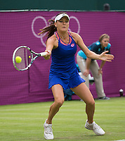 Agnieszka Radwanska - Poland..Tennis - OLympic Games -Olympic Tennis -  London 2012 -  Wimbledon - AELTC - The All England Club - London - Friday 29th June  2012. .© AMN Images, 30, Cleveland Street, London, W1T 4JD.Tel - +44 20 7907 6387.mfrey@advantagemedianet.com.www.amnimages.photoshelter.com.www.advantagemedianet.com.www.tennishead.net