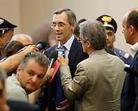 Avv Niccolo Ghedini dopo  la lettura del la sentenza di condanna per Berlusconi  perla  compravendita senatori