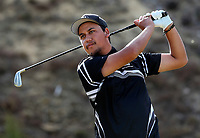 Tyson Tawera of Hawkes Bay. Day One of the Toro Interprovincial Men's Championship, Mangawhai Golf Club, Mangawhai,  New Zealand. Tuesday 5 December 2017. Photo: Simon Watts/www.bwmedia.co.nz