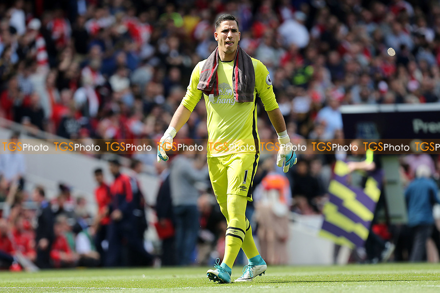 Joel Robles of Everton before  during Arsenal vs Everton, Premier League Football at the Emirates Stadium on 21st May 2017