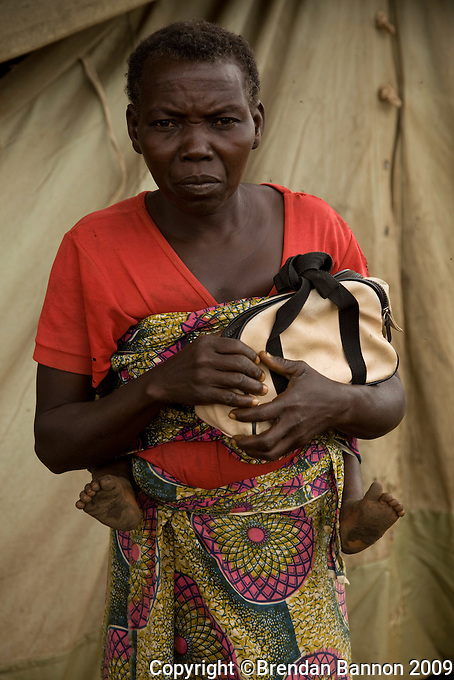 Portrait of Lomo Rama Abora a mother of 6 and refugee  from Congo staying in  Nyori refugee camp, South Sudan..Her older children were captured and then escaped from the LRA