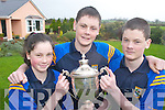 winners: Mairead, Sean and Thomas Foley from Beaufort who won the All Ireland Scor na nOg Quiz in Athlone on Saturday..