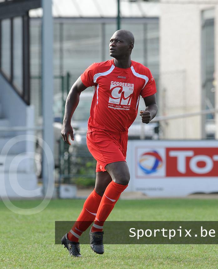 Olympic Ledegem : Moussa Toure.foto VDB / BART VANDENBROUCKE