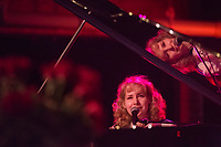 Nellie McKay, Alexi David and Kenneth Salters perform during the Duke Performances in The Jazz Tradition series at the Durham Fruit & Produce Company in Durham, North Carolina, Wednesday, December 5, 2018  (Justin Cook)
