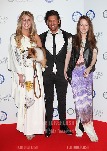 Cheska Hull, Ollie Locke, Rosie Fortescue arriving for the Collars And Coats Ball, at Battersea Evolution, London. 08/11/2012 Picture by: Alexandra Glen / Featureflash