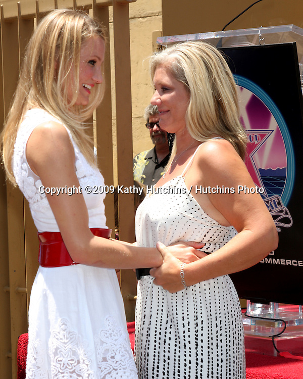 Cameron Diaz & sister   at the Cameron Diaz Star on the Hollywood Walk of Fame Ceremony  in front of the Egyptian Theater on June 22, 2009.  .©2009 Kathy Hutchins / Hutchins Photo