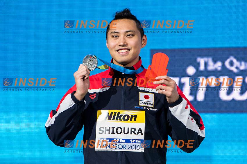 SHIOURA Shinri JPN Silver Medal<br /> Men's 100m Freestyle<br /> 13th Fina World Swimming Championships 25m <br /> Windsor  Dec. 11th, 2016 - Day06 Finals<br /> WFCU Centre - Windsor Ontario Canada CAN <br /> 20161211 WFCU Centre - Windsor Ontario Canada CAN <br /> Photo &copy; Giorgio Scala/Deepbluemedia/Insidefoto