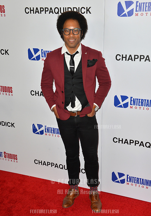 Johnathan Fernandez at the premiere for &quot;Chappaquiddick&quot; at the Samuel Goldwyn Theatre, Los Angeles, USA 28 March 2018<br /> Picture: Paul Smith/Featureflash/SilverHub 0208 004 5359 sales@silverhubmedia.com