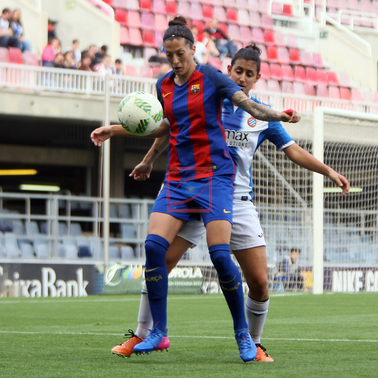 Spanish Women's Football League Iberdrola 2016/17 - Game: 21.<br /> FC Barcelona vs RCD Espanyol: 5-0.<br /> Jennifer Hermoso vs Elba Verges.