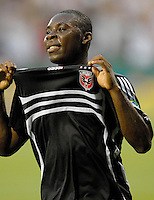 International friendly DC United vs Celtic FC. DC United midfielder Freddy Adu (9) celebrating the first goal of the game, DC United defeated Celtic FC 4-0, Wednesday, July 12, 2006 at RFK Stadium, Washington, DC.