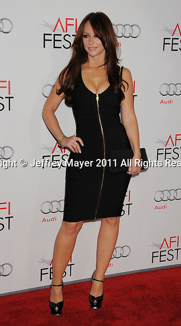 "HOLLYWOOD, CA - NOVEMBER 03: Jennifer Love Hewitt attends AFI Fest 2011 Opening Night Gala World Premiere Of ""J. Edgar""at Grauman's Chinese Theatre on November 3, 2011 in Hollywood, California."