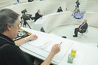 SÃO PAULO,SP, 30.11.2015 - JARBAS-VASCONCELOS - O Deputado Federal Jarbas Vasconcelos durante a gravação do programa Roda Viva na sede da TV Cultura na região oeste de São Paulo na noite desta segunda-feira (30). ( Foto : Marcio Ribeiro / Brazil Photo Press)