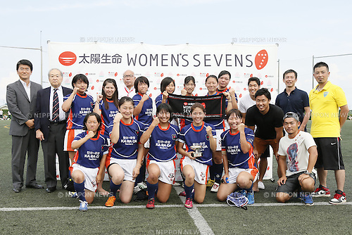 Kanagawa Selection team group,<br /> JULY 20, 2014 - Rugby : <br /> Women's Sevens Series 2014 Yokohama Victory ceremony <br /> at YCAC ground in Kanagawa, Japan. <br /> (Photo by Shingo Ito/AFLO SPORT) [1195]