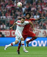 FUSSBALL   1. BUNDESLIGA  SAISON 2012/2013   3. Spieltag FC Bayern Muenchen - VfB Stuttgart      02.09.2012 Vedad Ibisevic (li, VfB Stuttgart) gegen Dante (FC Bayern Muenchen)
