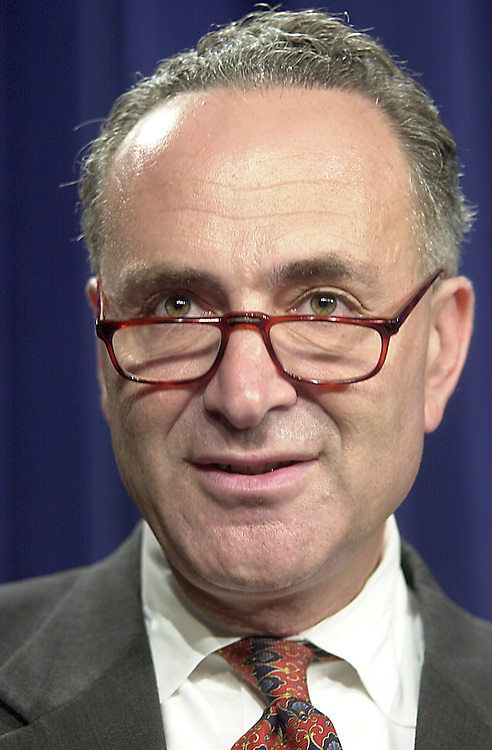 1schumer092701 -- Senator Charles Schumer (D-NY) spoke on Wednesday about the ease of opening overseas bank accounts which remain confidential to the FBI, thus allowing terrorist to transfer funds globaly, without consequences.