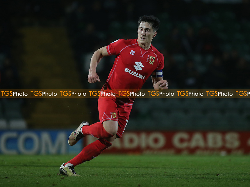 George B Williams of MK Dons during Yeovil Town vs MK Dons, Checkatrade Trophy Football at Huish Park on 6th December 2016