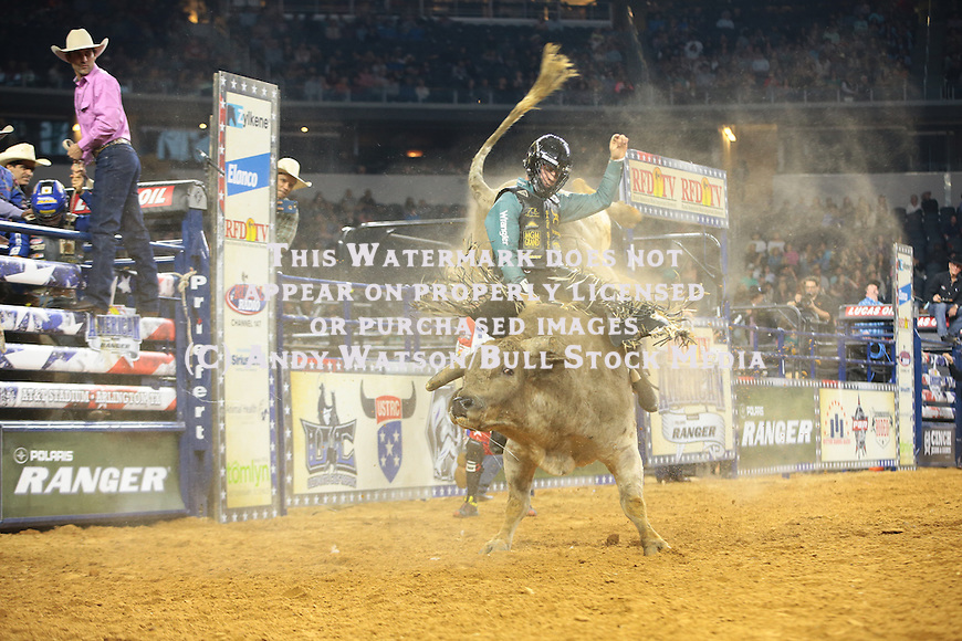 Sage Kimzey, Uncle Tink, during the RFDTV's The American. Photo by Andy Watson