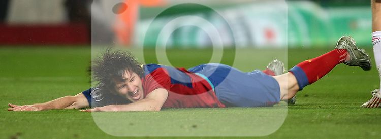 FC Barcelona's Lionel Messi during the UEFA Champiosn League match.April 8 2009. (ALTERPHOTOS/Acero).