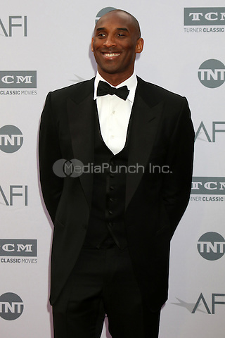 LOS ANGELES, CA - JUNE 9: Kobe Bryant at the American Film Institute 44th Life Achievement Award Gala Tribute to John Williams at the Dolby Theater on June 9, 2016 in Los Angeles, California. Credit: David Edwards/MediaPunch