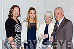 Ciara Kennelly Killarney Valley who picked up an award with l-r; Linda and Ciara Kennelly, Mildred and Paddy O'Sullivan at the Kerry Athletic awards  in the Dromhall Hotel on Saturday night