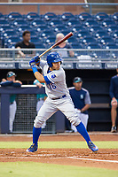 AZL Royals right fielder Jose Caraballo (16) at bat against the AZL Mariners on July 29, 2017 at Peoria Stadium in Peoria, Arizona. AZL Royals defeated the AZL Mariners 11-4. (Zachary Lucy/Four Seam Images)