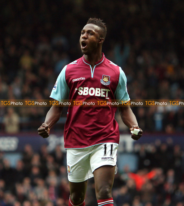 Modibo Maiga scores the 4th goal for West Ham and celebrates - West Ham United vs Southampton, Barclays Premier League at Upton Park, West Ham - 20/10/12 - MANDATORY CREDIT: Rob Newell/TGSPHOTO - Self billing applies where appropriate - 0845 094 6026 - contact@tgsphoto.co.uk - NO UNPAID USE.