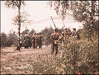 BNPS.co.uk (01202 558833)<br /> Pic: RonaldPlayforth/BNPS<br /> <br /> The moment the German high command came to surrender to Montgomery in the spring sunshine on Luneburg heath on May 4th 1945.<br /> <br /> The first Allied cease fire order issued by British army supremo Field Marshal Bernard Montgomery following the German surrender in World War Two has emerged.