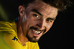 Julian Alaphilippe (FRA) Deceuninck-Quick Step retains the Yellow Jersey at the end of Stage 11 of the 2019 Tour de France running 167km from Albi to Toulouse, France. 17th July 2019.<br /> Picture: ASO/Alex Broadway | Cyclefile<br /> All photos usage must carry mandatory copyright credit (© Cyclefile | ASO/Alex Broadway)