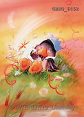 Ron, CUTE ANIMALS, Quacker, paintings, duck, blue crowne(GBSG6452,#AC#) Enten, patos, illustrations, pinturas
