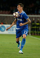 Mario Mandzukic  during the  italian serie a soccer match,between SSC Napoli and Juventus       at  the San  Paolo   stadium in Naples  Italy , April 02, 2017