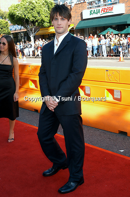 Justin Bartha arriving at the Premiere of Gigli at the National Theatre in Los Angeles. July 27, 2003.