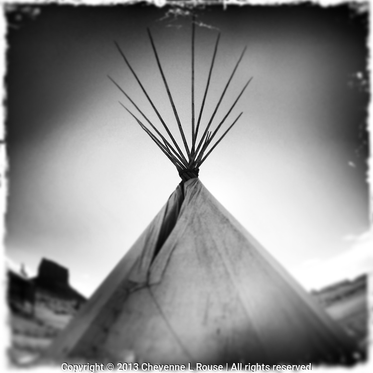 Monument Valley - Arizona - Tipi - Tepee - Lodge - Black and White Photography<br /> ATTN: This is a custom cropped photo that will only print on certain mediums - PLEASE contact me prior to ordering to discuss sizes and mediums to avoid any problems - thank you!
