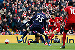 Mohamed Salah of Liverpool scoring the equaliser during the Premier League match at Anfield, Liverpool. Picture date: 7th March 2020. Picture credit should read: Darren Staples/Sportimage