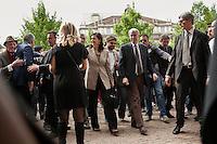 Milano 25-04-2013: Laura Boldrini con il sindaco Giuliano Pisapia per ricordare il 25 aprile del 1945 giorno della liberazione dalla dittatura nazi-fascista