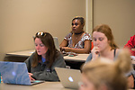 Trey Bagwell's WRIT 250 class in Lamar.  Photo by Kevin Bain/University Communications Photography