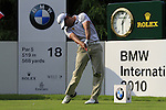 Pablo Larrazabal tees off on the 18th hole on Day 3 of The BMW International Open Munich at Eichenried Golf Club, 26th June 2010 (Photo by Eoin Clarke/GOLFFILE).