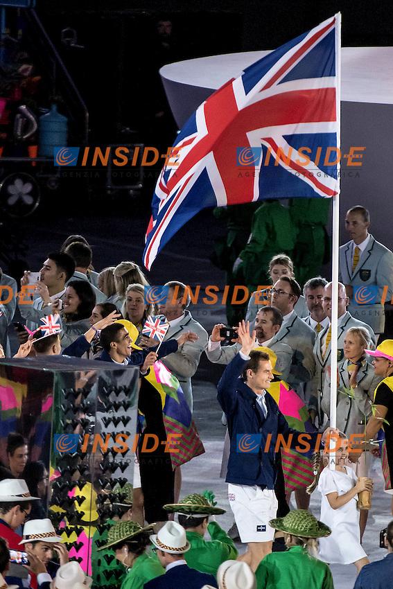 Andy Murray GBR Team<br /> Rio de Janeiro 06-08-2016 XXXI Olympic Games <br /> Maracana' Stadium <br /> Opening Ceremony 05/08/2016<br /> Photo Giorgio Scala/Deepbluemedia/Insidefoto