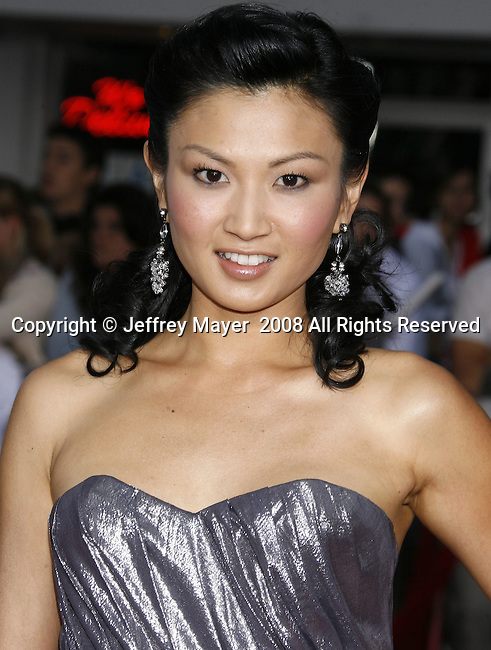 """Actress Michelle Krusiec arrives at the Premiere Of Fox's """"What Happens In Vegas"""" on May 1, 2008 at the Mann Village Theatre in Los Angeles, California."""
