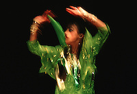 Blurred action image of an  Indian dancer.