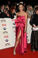Sarah Jayne Dunn<br /> arriving for the National TV Awards 2020 at the O2 Arena, London.<br /> <br /> ©Ash Knotek  D3550 28/01/2020
