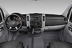 Stock photo of straight dashboard view of 2017 Mercedes Benz Sprinter-Crew-Van 2500-170-WB-High-Roof 4 Door Combi Dashboard
