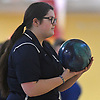 Rebecca Kelly of St. Dominic gets ready to roll during the Nassau-Suffolk CHSAA varsity girls bowling team championship against Kellenberg at Farmingdale Lanes on Thursday, Feb. 8, 2018. She bowled a 183 in her first game.