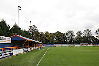 A general view of Cressing Road before the Vanarama National League match between Braintree Town and Grimsby Town at the Amlin Stadium, Braintree, England on 10 October 2015. Photo by PHC Images.