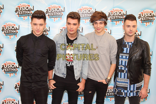BIRMINGHAM, UNITED KINGDOM - AUGUST 31: Union J during day 2 of Fusion Festival 2014 on August 31, 2014 in Birmingham, England.<br /> CAP/ROS<br /> &copy;Steve Ross/Capital Pictures