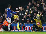 Everton's Aaron Lennon argues with Watford's mascot during the Premier League match at Vicarage Road Stadium, London. Picture date December 10th, 2016 Pic David Klein/Sportimage
